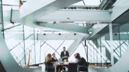 Businessman having a presentation during a meeting