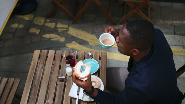 businessman having breakfast - formal businesswear stock videos & royalty-free footage