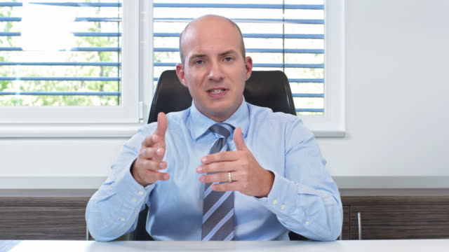 HD: Businessman Having Video Conference