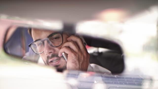 businessman in a car/ debica/ poland - chauffeur stock videos and b-roll footage