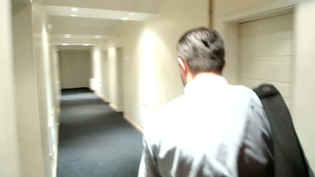 Businessman in hotel