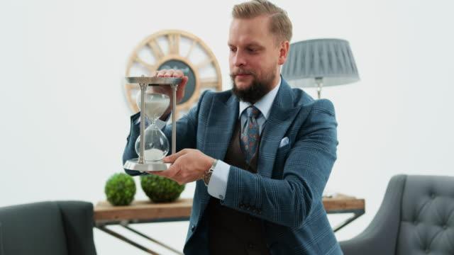 businessman in office - studio shot stock videos & royalty-free footage