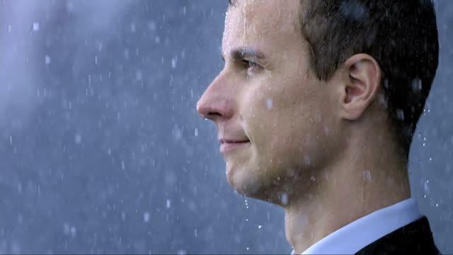 Businessman In The Rain