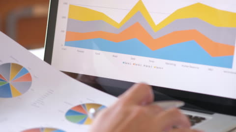 businessman is analyzing business data - pen stock videos & royalty-free footage