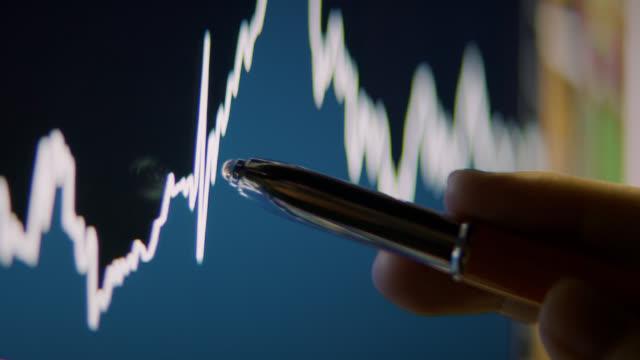 businessman is analyzing of stock market data - bid stock videos & royalty-free footage