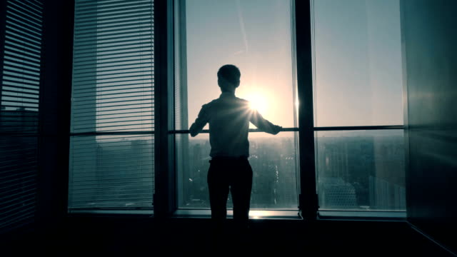 businessman look forward to the future - sunlight stock videos & royalty-free footage