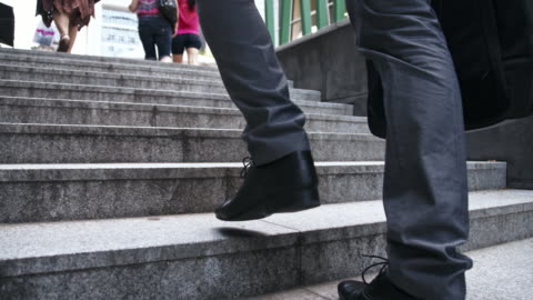 businessman looking for opportunity - steps and staircases stock videos & royalty-free footage