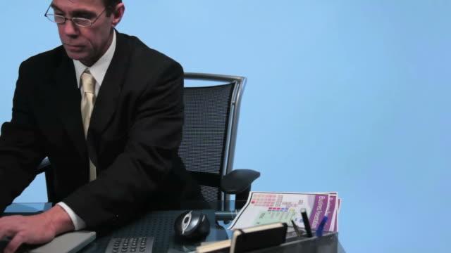 Geschäftsmann, Büro, business, laptop, computer