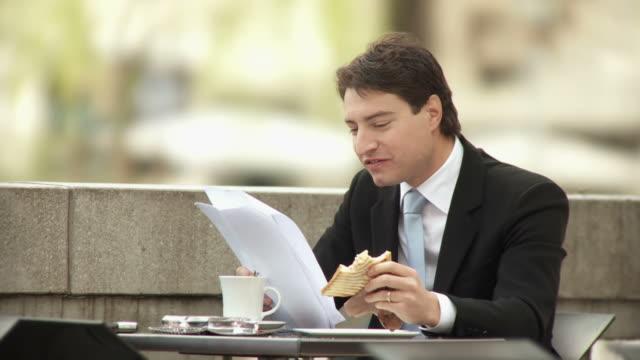 HD: Businessman On A Lunch Break