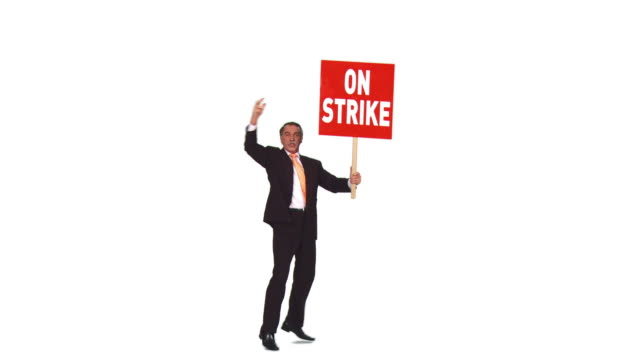 HD: Businessman On A Strike