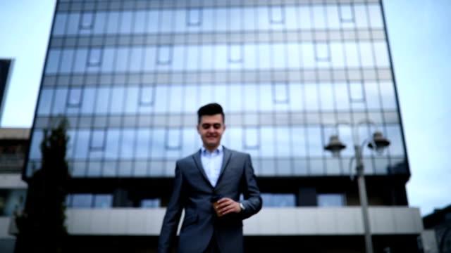 businessman on coffee break - handsome people stock videos & royalty-free footage