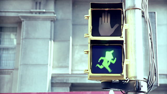 businessman on the run - green light stoplight stock videos and b-roll footage