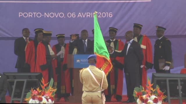 businessman patrice talon is sworn in as benins new president after winning last months elections in the tiny west african country - benin stock videos and b-roll footage
