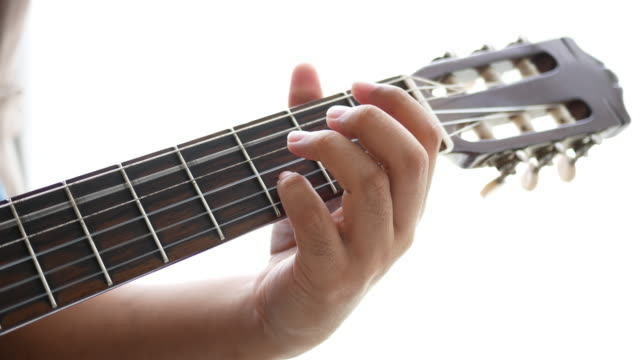 Businessman play guitar in free time