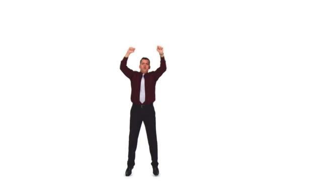 vídeos de stock e filmes b-roll de hd: empresário protestar - camisa e gravata