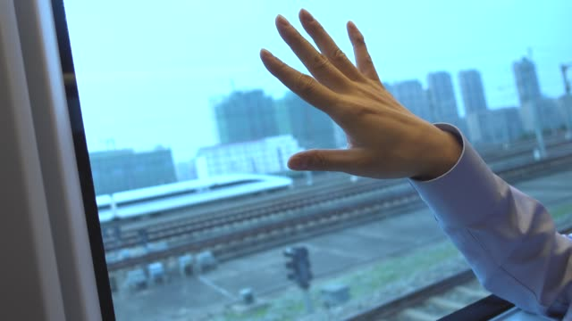 businessman relaxing in high speed train - one man only stock videos & royalty-free footage
