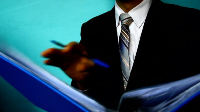 businessman  review paper document