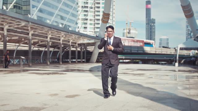 Businessman Rushing in Bangkok Downtown