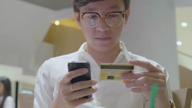 Businessman shopping online.Mobile phone