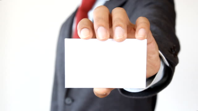 businessman show blank card - greeting card stock videos & royalty-free footage