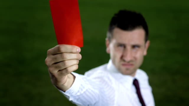 hd: businessman showing dismissal red card - shirt and tie stock videos & royalty-free footage