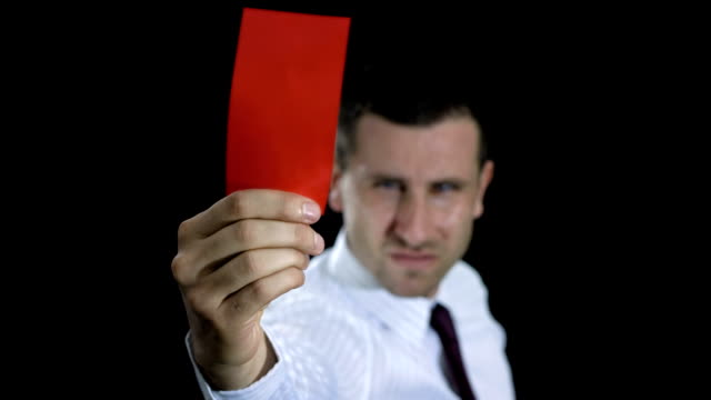 hd: businessman showing red card - shirt and tie stock videos & royalty-free footage
