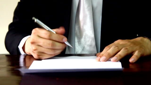 Homme d'affaires signature