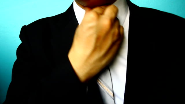 businessman sore throat - neck stock videos & royalty-free footage