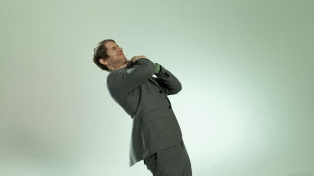 businessman strangling himself - throttle stock videos & royalty-free footage