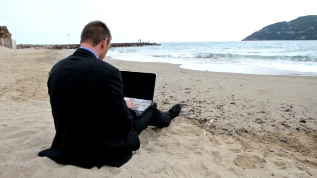 businessman take a pause - deckchair stock videos & royalty-free footage