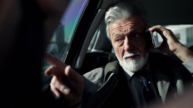 車の中で携帯電話で話しているビジネスマン - 最高経営責任者点の映像素材/bロール