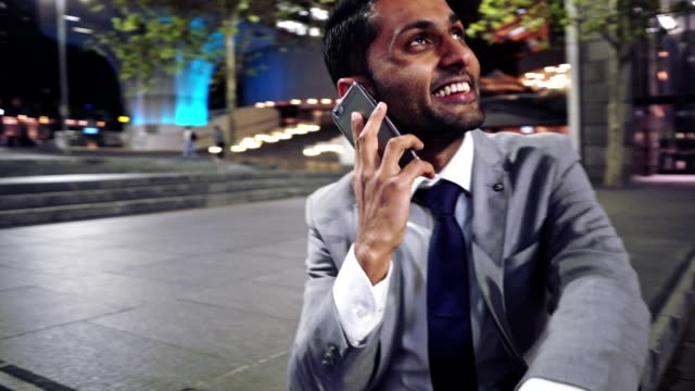 businessman talking on the phone in sydney downtown - connection in process stock videos & royalty-free footage