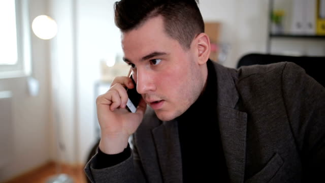 Businessman talking over the phone