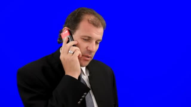 Geschäftsmann Gespräch am Telefon