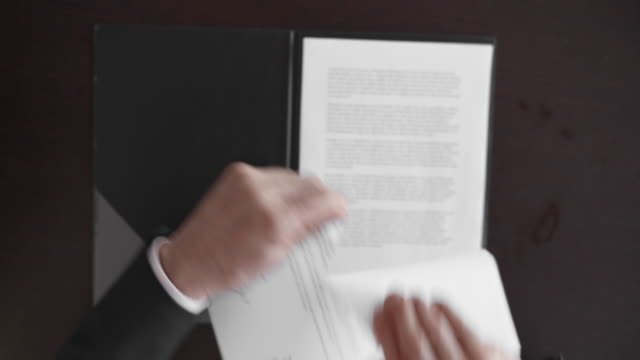 pov businessman tearing up the contract - contract stock videos & royalty-free footage