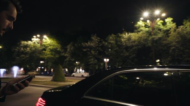 businessman traveling. - prestige car stock videos & royalty-free footage