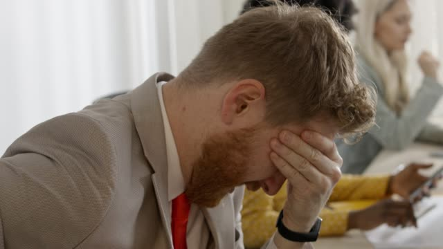 businessman under stress - disappointment stock videos & royalty-free footage
