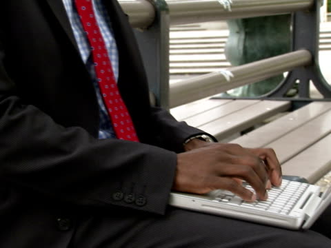 a businessman using a laptop stockholm sweden. - one mid adult man only stock videos & royalty-free footage