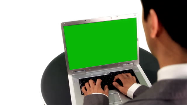 businessman using a laptop - hd 25 fps stock videos & royalty-free footage