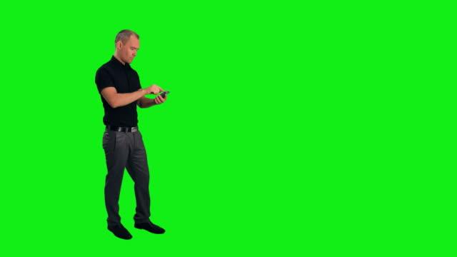 Geschäftsmann mit einem Smartphone