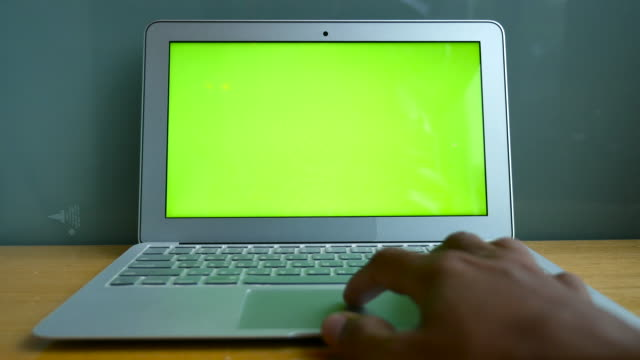 businessman using chroma key laptop - unrecognisable person stock videos & royalty-free footage