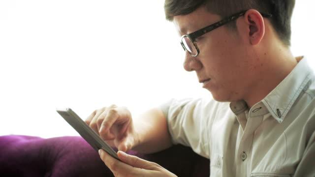 Businessman using digital tablet,Close-up