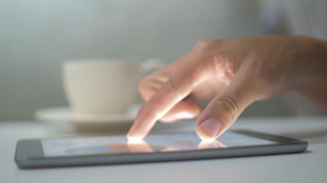 businessman using digital tablet,close-up - froth art stock videos and b-roll footage