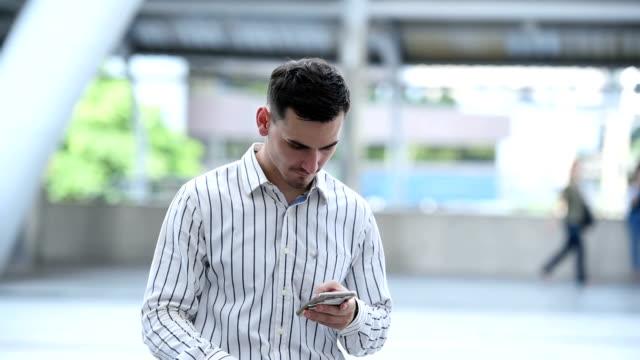 businessman using smartphone online shopping