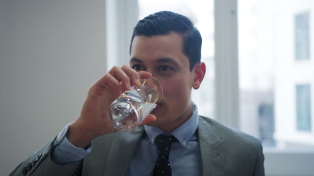 businessman - drinking water stock videos & royalty-free footage