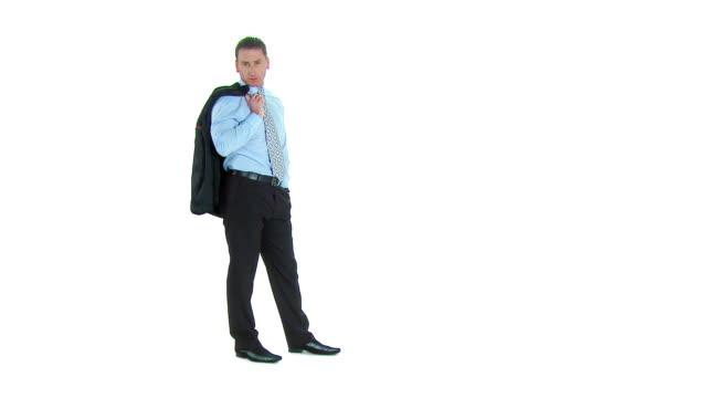 hd :ビジネスマン - シャツとネクタイ点の映像素材/bロール