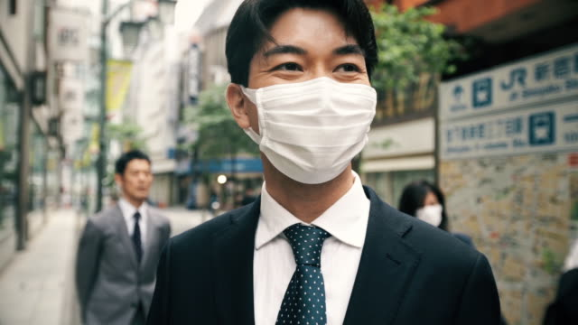 Businessman Wearing Surgical Mask