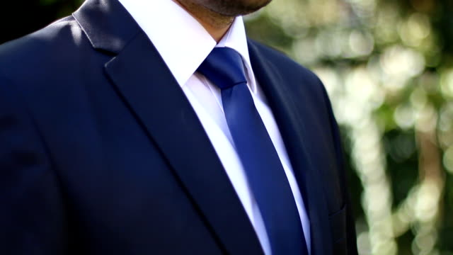 Businessman who wears a suit
