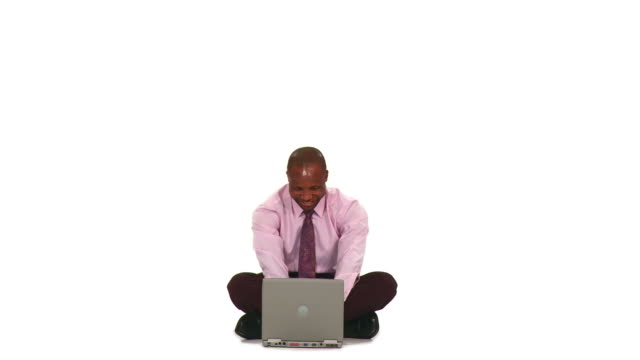 HD: Businessman With Laptop