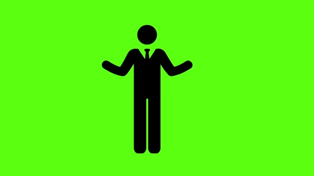 Businessman with raising hand on green screen background